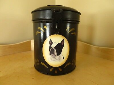 Boston Terrier Treat Jar Canister ( Tin )