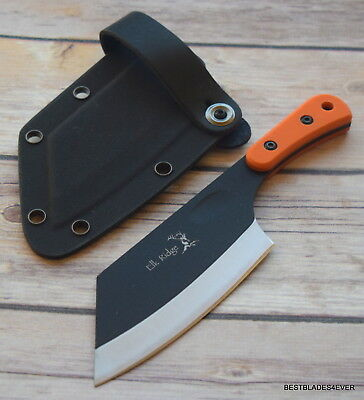 Elk Ridge Small Fixed Blade Knife Cleaver Full Tang Kydex Sheath G10 Handle