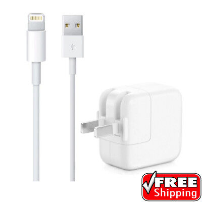 NEW Original Genuine OEM 12W USB Wall Charger & Cable for iPad Pro, Air & Mini