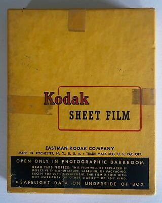 "Vintage Kodak Sheet Film 4"" x 5"" Unused Old Stock, Unopened box"