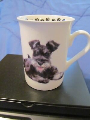 Pets...*schnauzer Puppy Dog Porcelain Coffee/tea Mug Cup*...xlnt !