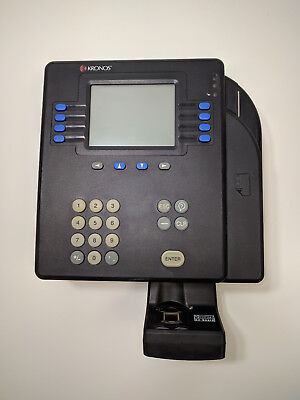 Kronos 4500 Time Clock with Touch ID Biometric Scanner and Backup Battery System