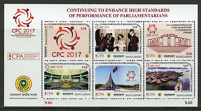 Bangladesh 2017 MNH CPA CPC Commonwealth Parliamentary Conference 3v M/S Stamps