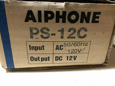NEW Aiphone PS-12C 12V DC Power Supply for Intercoms ( NIB Old Stock ) 12VDC 1A