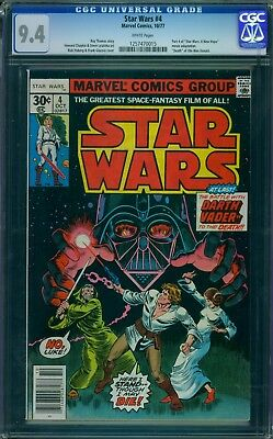 Star Wars 4 CGC 9.4 - White Pages - No Reserve Auction