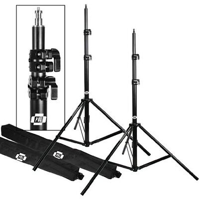 """Light Stands Pro Heavy Duty 7'6"""" Set Of Two With All Metal Locking Collars No..."""