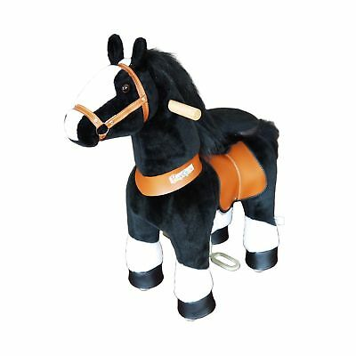 PonyCycle Ride On Horse w/ White Hoof Black Kids Fun Play Toy Indoor Outdoor New