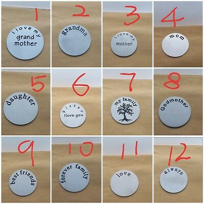 22mm Stainless Steel Back Plates for 30mm Living Memory Lockets+ Floating Charms