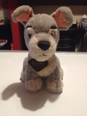 Lady And The Tramp SCAMP DOG Disney Store Plush Soft Toy Cuddly Teddy - 8 Inches