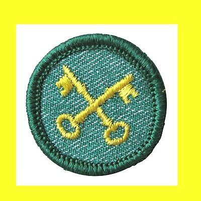 WEATHER 1955 Badge Intermediate Girl Scout Badge Flags EUC Patch RARE Condition
