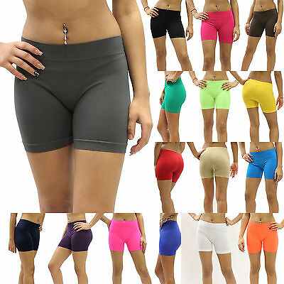 New Boy Cut Spankies Dance Under Skirt Briefs Spandex Tights One Size MUS002