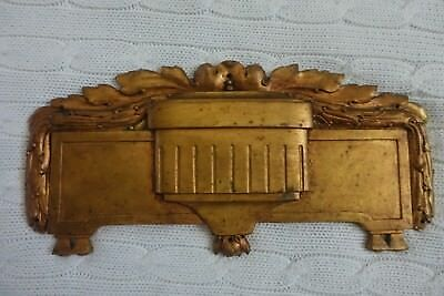 Antique GORGEOUS french BRONZE PEDIMENT / Decorative Plaque marks H.E 413
