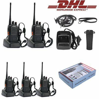 5X Baofeng BF-888s UHF CTCSS/CDCSS Amateurfunk Handfunkgerät Walkie-Talkie 4S