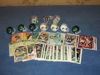 Large Lot Of New York Jets Vending Gumball Items, Helmets, Pennants, Cards, Etc!