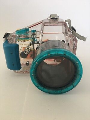 POLAROID Waterproof Camera Case NEX3 18-55mm. EUC. With Carrying Strap.