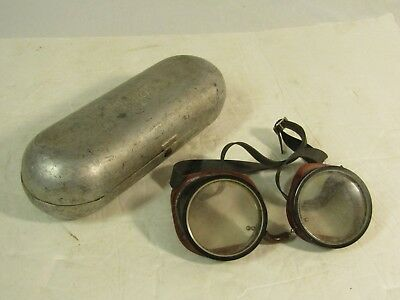 Vintage Bell System Safety Goggles with Aluminum Case