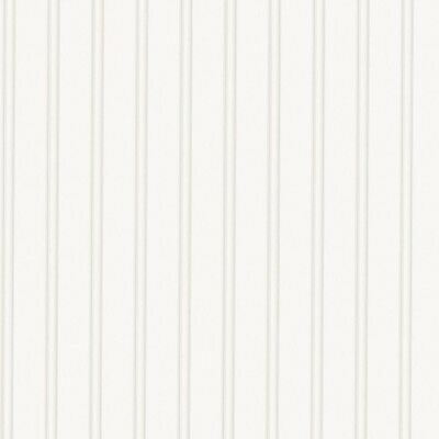 Beadboard Paintable Wallpaper Pre-pasted Wall Covering 56 Sq. Ft. White