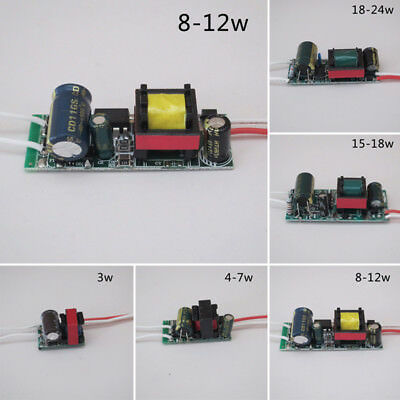 AC80~265V 3~24W LED Driver Constant Current Power Supply Adapter for Light Lamp.