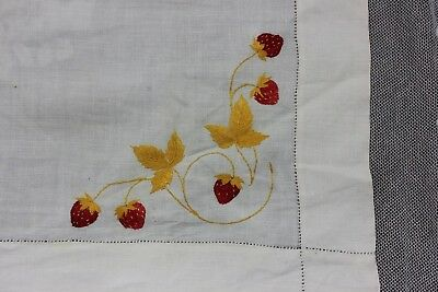 Antique Silk Society Work Hand Embroidered Flowers On Linen Cloth c1900