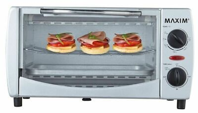 Maxim Portable Benchtop Electric 9L Mini Small Bake Toast and Grill Oven Caravan