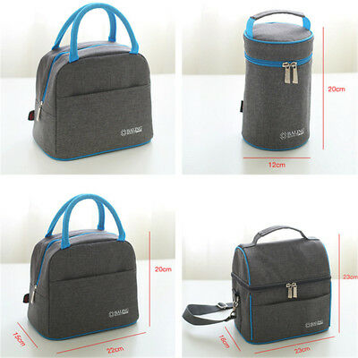 Portable Lunch Box Bag Hot Cold Insulated Thermal Cooler Travel Work Food Picnic