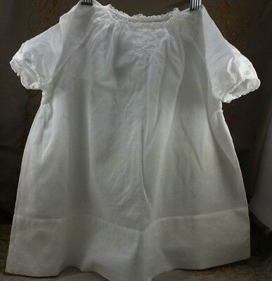 BABY GOWN Feltman Bros WHITE COTTON DRESS Cutaway & Embroidery VINTAGE NIGHTGOWN