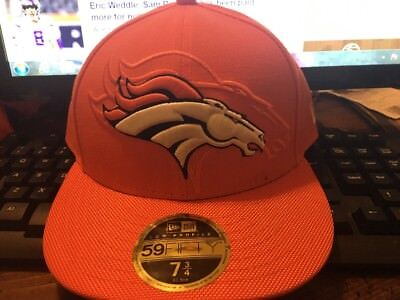 7b9e83ab0ce DENVER BRONCOS NEW Era On Field 59Fifty Fitted Hat Cap Sz 7 7 8 New ...