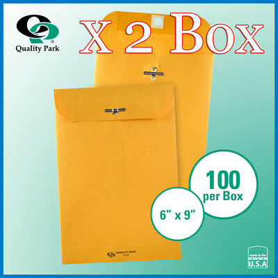 """[NO TAX] Quality Park Clasp Envelope 6"""" x 9"""" Kraft, 200-count. Free Shipping"""