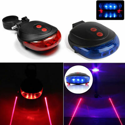 5LED+2Laser Bike Rear Tail Lamp Cycling Bicycle Safety Flashing Warning Light