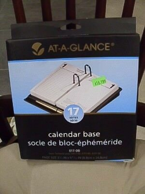 At-A-Glance Calendar Base Black E17-00 Desk  3.5 x 6in Page Size