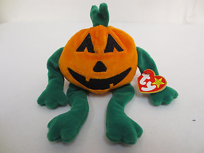 Beanie Baby Pumkin 1998 Babies New Collection Rare Collectors Ty Cute Halloween