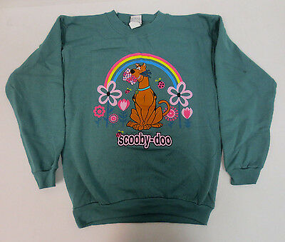 Scooby Doo Youth Large Sweatshirt Crew Printed New Cartoon Network Vintage Retro