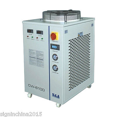 S&A 220V 60Hz CW-6100BTH  Water Chiller Dual Temp for One 300W-1000W Fiber Laser