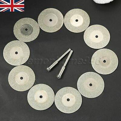 10pc 30mm Mini Diamond Cut Wheel Disc Craft Rotary Tool Arbor Set Rotary Tool HQ