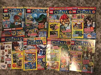 Lego Legends of Chima Magazine Comic Issue #1-4 and 6-9  - NO TOYS! NO #5.