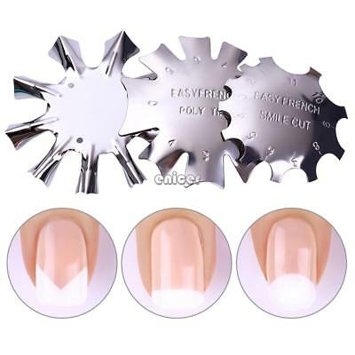 Nail Art Manicure Edge Trimmer Cutter Tool Gel Easy French Smile Line ENE