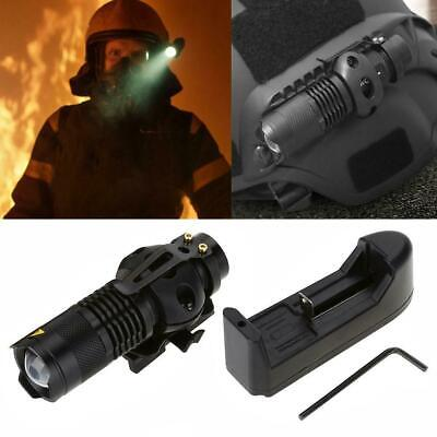 Military Outdoor Zooming Helmet Light LED Flashlight Head Torch Night 4 Modes AM