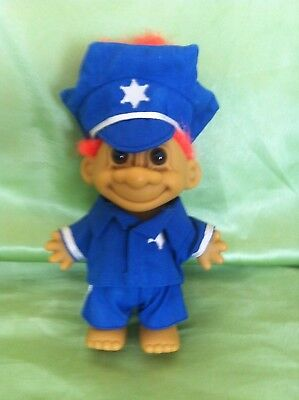 Troll Russ Doll Policeman Vintage Rare Collectable