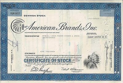 American Brands Inc. 1977 (1.000 Shares) - Indianer Vignette