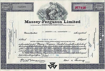 Canada - Massey - Ferguson Limited, 1968 (75 Shares)