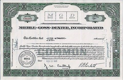 Miehle-Goss-Dexter Incorporated, Delaware, 1959 (50 Shares)