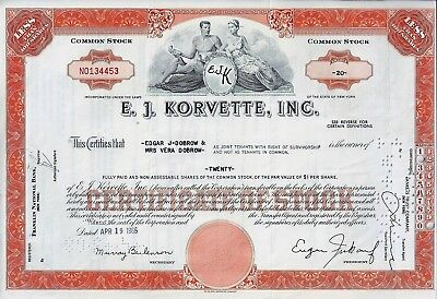 E.J. Korvette Inc., New York, 1966 (20 Shares)