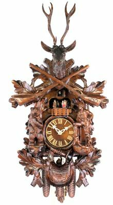 Adolf Herr Cuckoo Clock - The Bear Hunter (large) AH 674/1 8TMT NEW