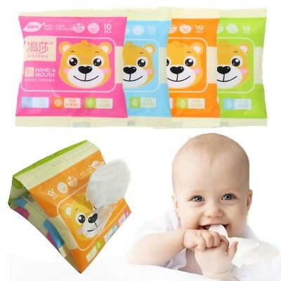 Baby Wet Tissue Wipe Hands Mouth Soft Portable Travel Cleaning Towel Fabric