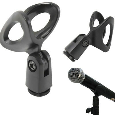 Flexible Rubberized Mic Clips Holder For Instrument Microphone Stand