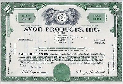 AVON PRODUCTS, Inc., New York, 1970 (100 Shares)