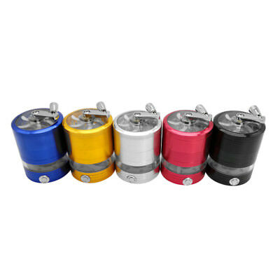 5 Layer Tobacco Herb Grinder 63mm Diameter Hand Crank Operation With LED Lights