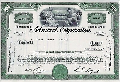 Admiral Corporation, Delaware 1971  (100 Shares)