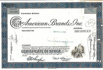 American Brands Inc. 1977 (200 Shares) - Indianer Vignette