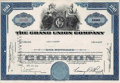 The Grand Union Company, Delaware, 1960  (100 Shares)